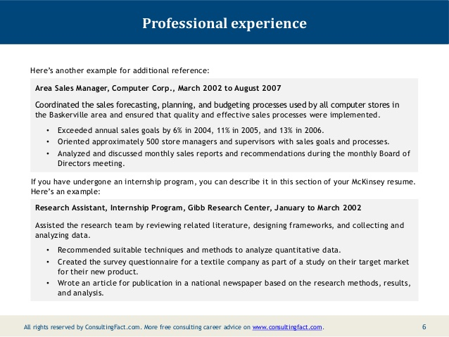 mckinsey resume sample consulting examples apple template latest format for accountant Resume Consulting Resume Examples Mckinsey