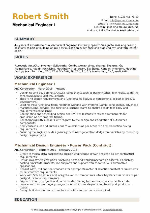 mechanical engineer resume samples qwikresume professional summary for engineering pdf Resume Professional Summary For Engineering Resume