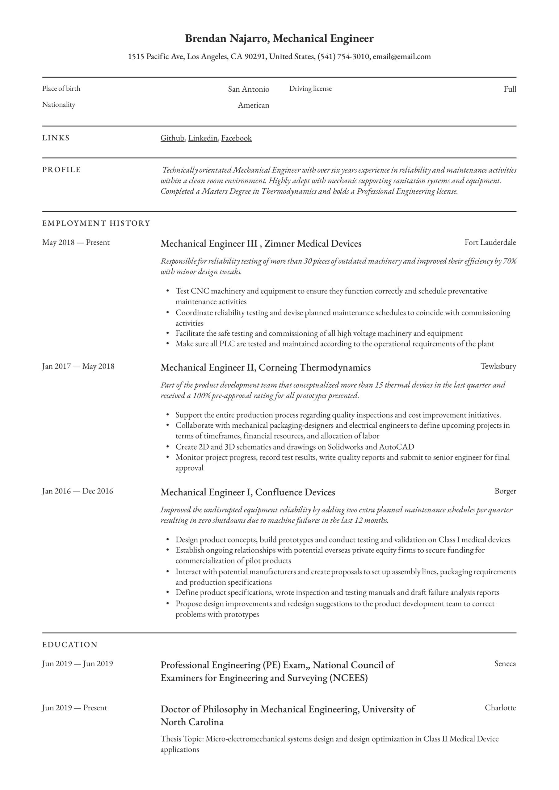 mechanical engineer resume writing guide templates pdf professional summary for Resume Professional Summary For Engineering Resume