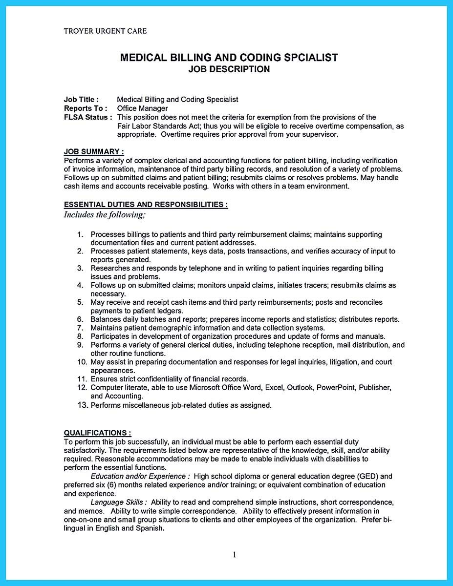 medical billing jobs resume objective example of good overview summary cashier job title Resume Medical Billing Resume Objective