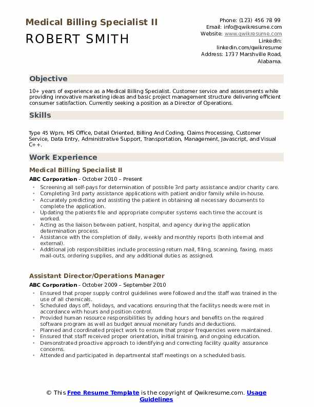 medical billing specialist resume samples qwikresume objective pdf the victor cheng Resume Medical Billing Resume Objective