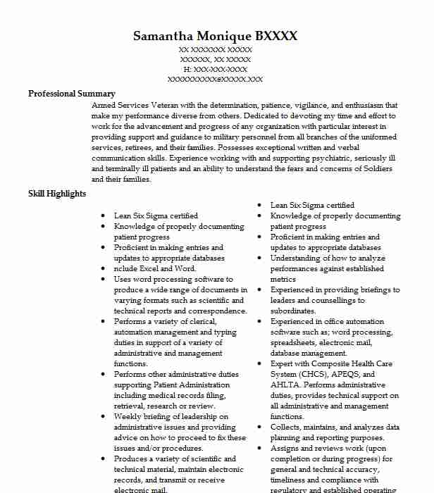 medical support assistant resume example va center indianapolis sample clinical data Resume Medical Support Assistant Resume Sample