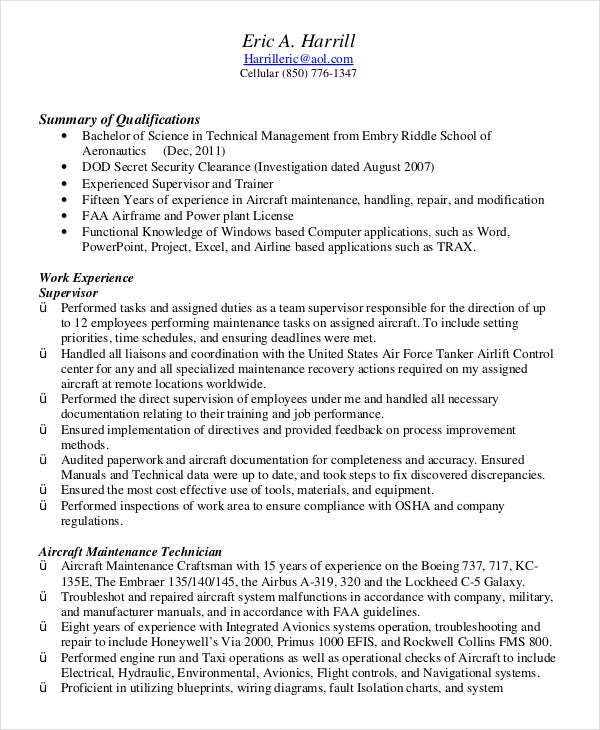 military resume free word pdf documents premium templates experience on example air force Resume Military Experience On Resume Example