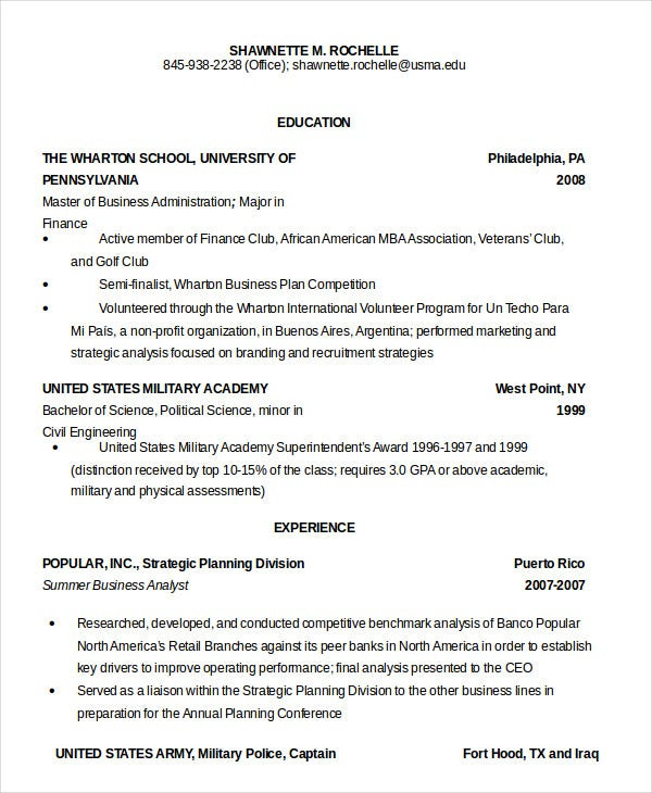 military resume free word pdf documents premium templates experience on example army Resume Military Experience On Resume Example