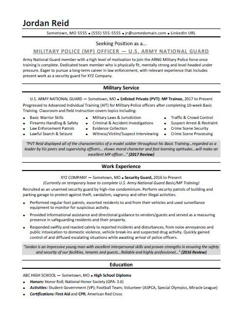 military resume sample monster experience on example public health nurse concise format Resume Military Experience On Resume Example