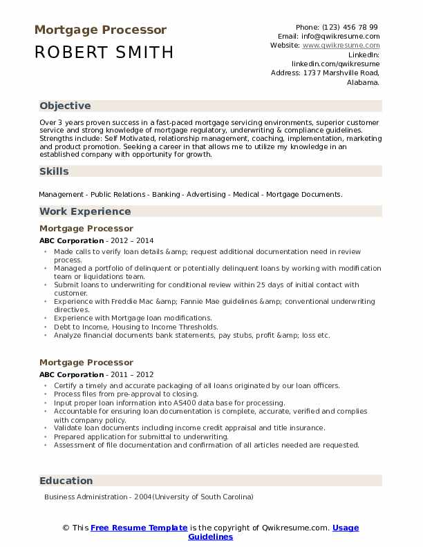 mortgage processor resume samples qwikresume job description for pdf electrician summary Resume Mortgage Processor Job Description For Resume