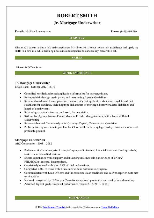 mortgage underwriter resume samples qwikresume skills pdf design free driver templates Resume Mortgage Underwriter Resume Skills