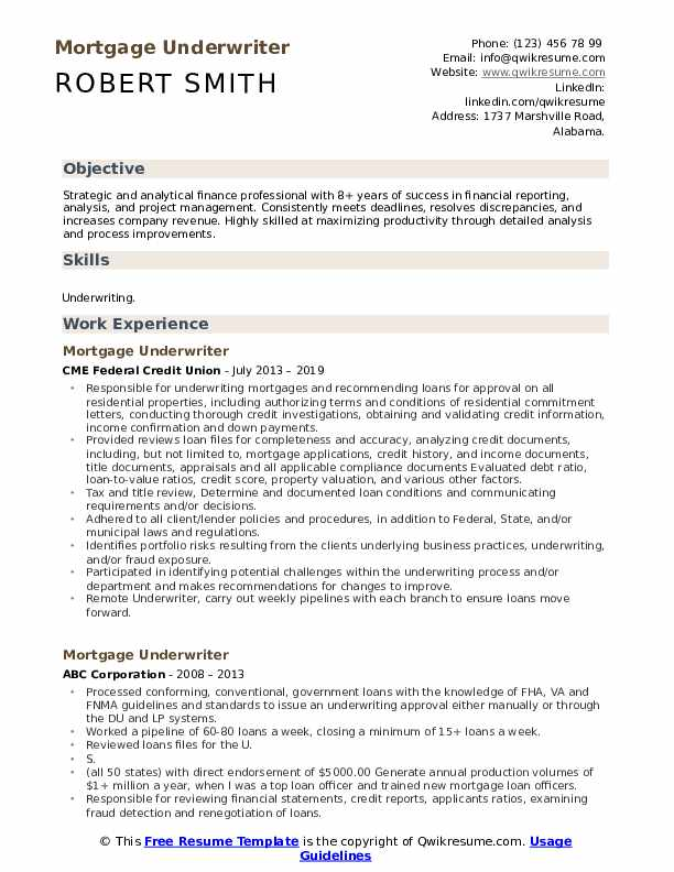 mortgage underwriter resume samples qwikresume skills pdf japanese example free Resume Mortgage Underwriter Resume Skills