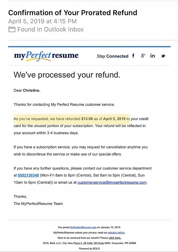myperfectresume reviews of sitejabber perfect resume contact number thumbnail normal Resume Perfect Resume Contact Number