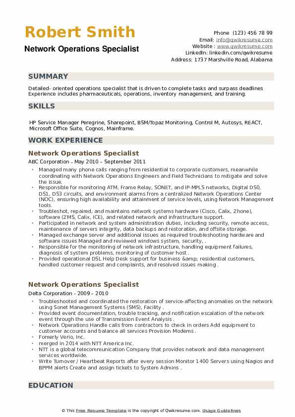 network operations specialist resume samples qwikresume pdf agile tester roles and Resume Operations Specialist Resume
