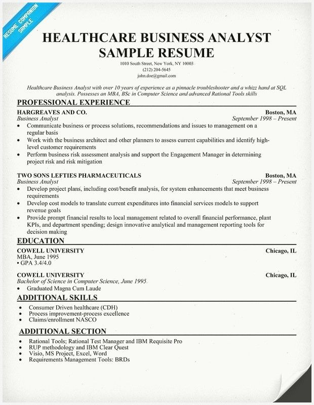 new healthcare business analyst resume collection in job samples credit manager format Resume Healthcare Business Analyst Resume