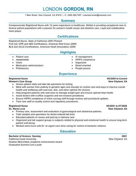 new nurse resume sample format registered template with google canva seo executive letter Resume New Registered Nurse Resume Template