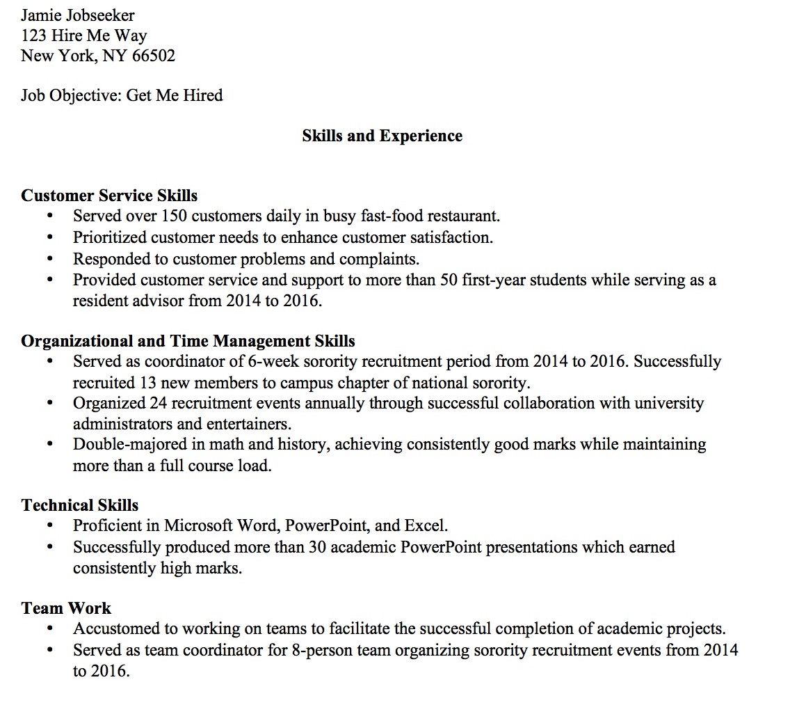 no experience problem resume skills section if you have never had job windows loader Resume Resume If You Have Never Had A Job