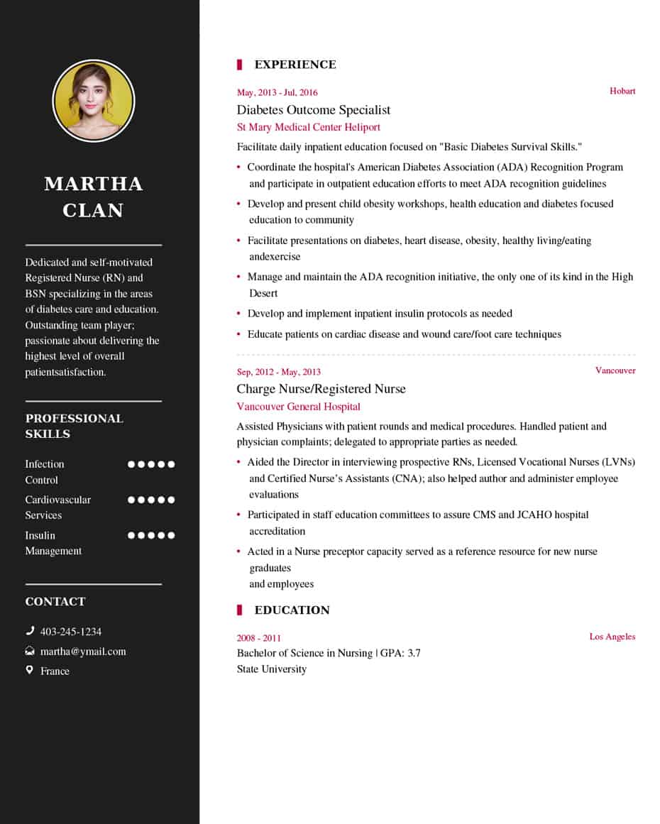 nurse resume sample latest example my format free builder nursing examples two column Resume Nursing Resume Examples 2020