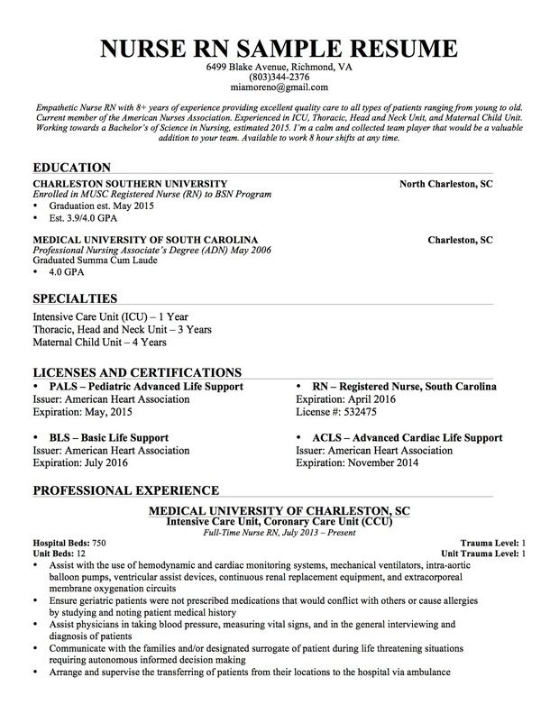 nursing resume sample writing guide genius examples template registered nurse new aid Resume New Registered Nurse Resume Template