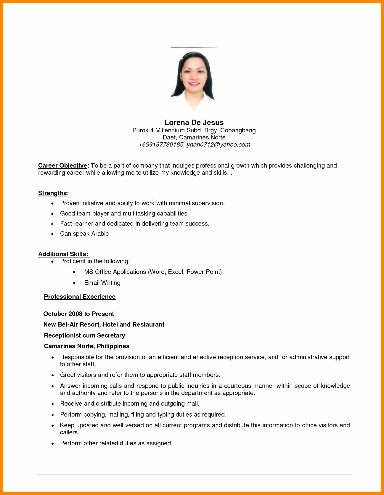 objective in resume career for graduate school sample student ministry patient Resume Career Objective For Resume