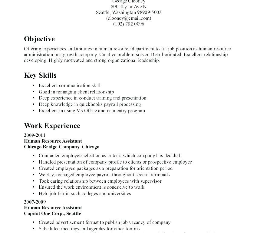 objective resume sample human resources for objectives res job samples good career Resume Good Career Objective For Resume