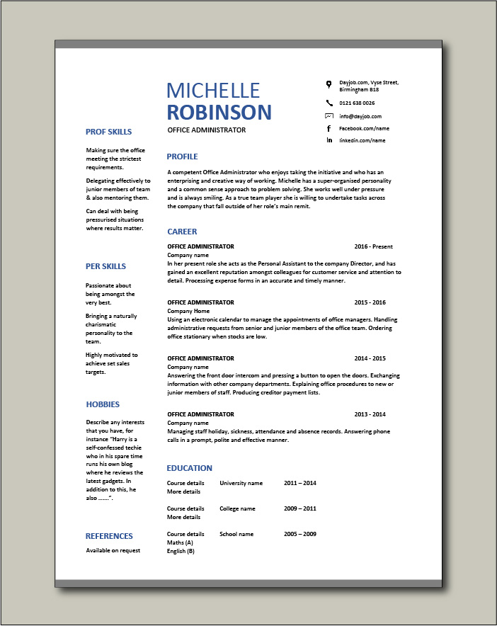 office administrator resume examples cv samples templates jobs duties administrative Resume Office Management Duties For A Resume
