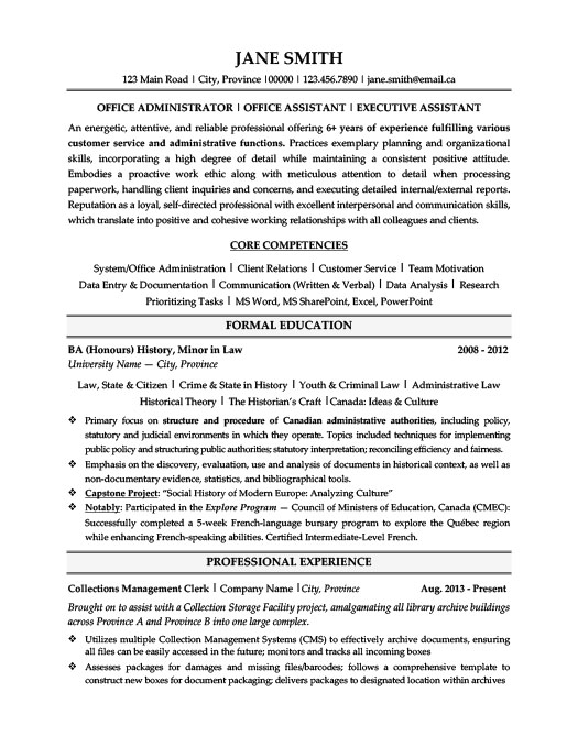 office administrator resume template premium samples example free sample call center high Resume Office Administrator Resume Free Sample