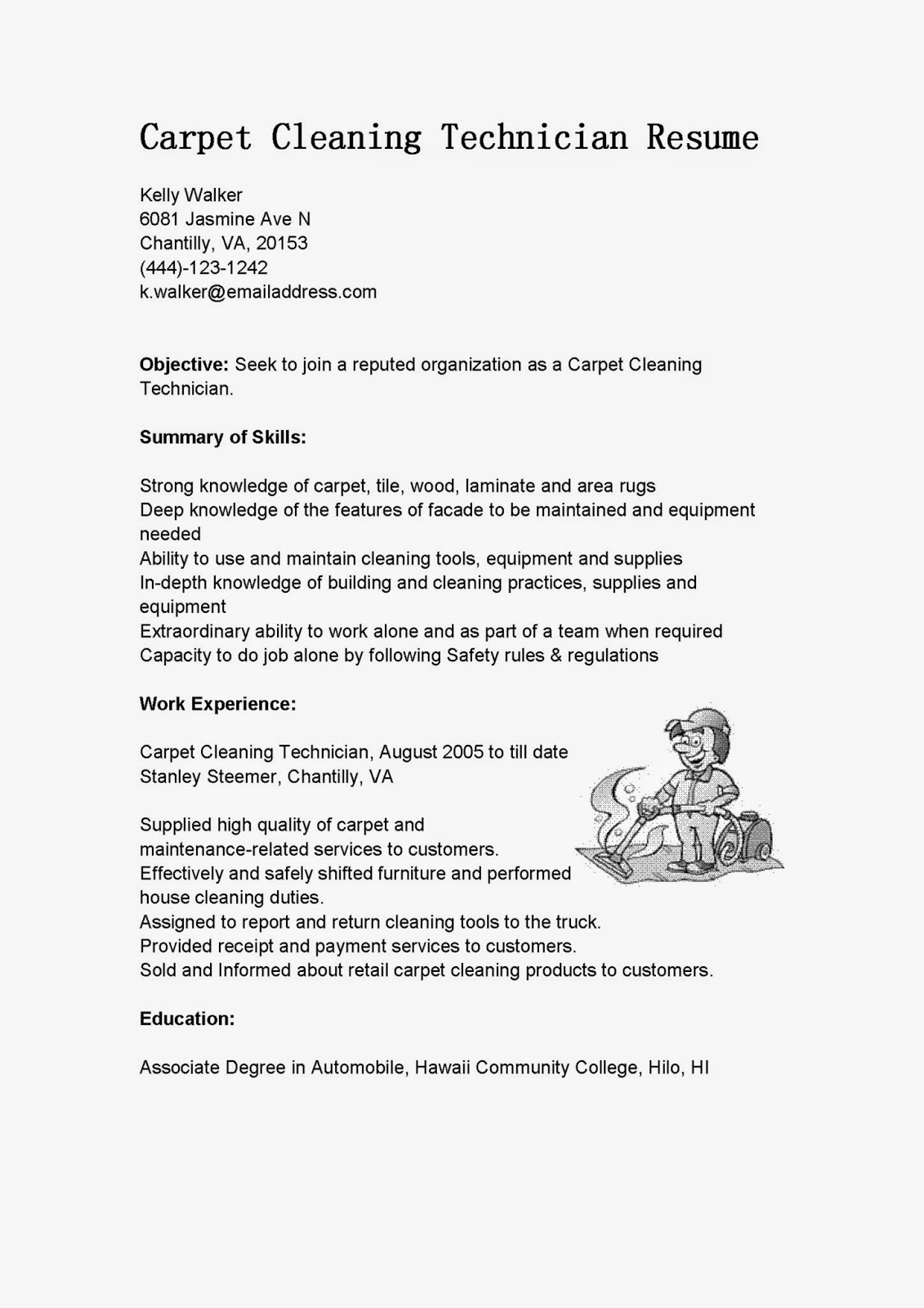 office cleaner resume objective october cleaning for carpet technician vocal example Resume Cleaning Objective For Resume