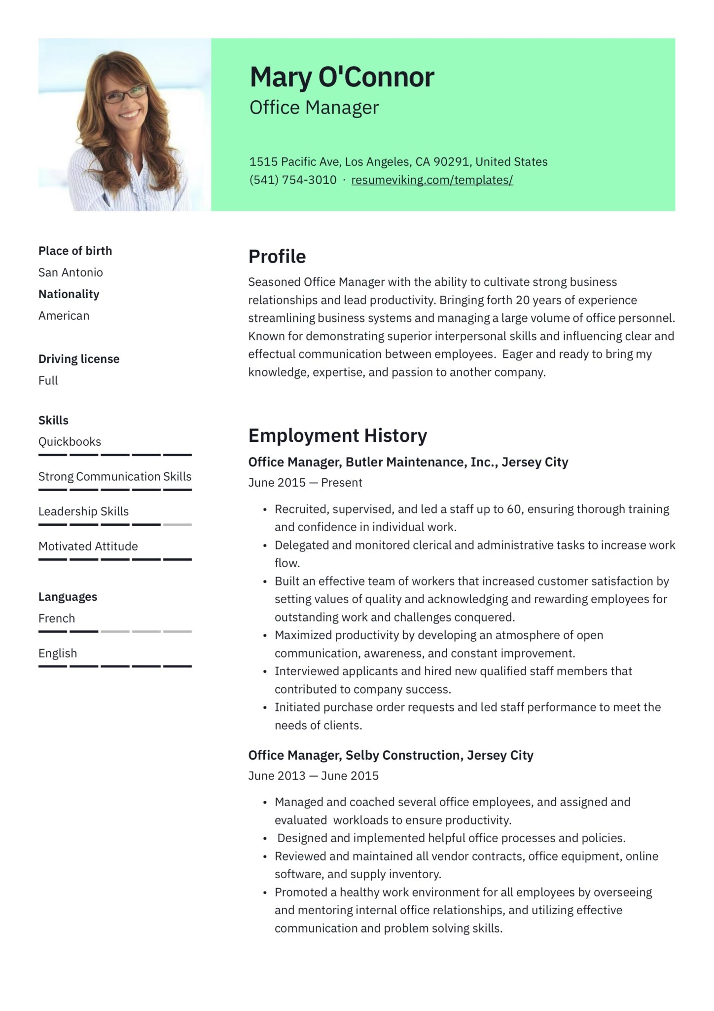 office manager resume guide samples pdf best scaled plumber pipefitter examples free Resume Best Office Manager Resume