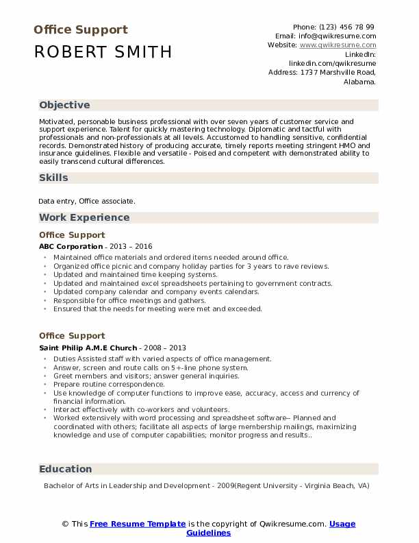 office support resume samples qwikresume caljobs building template pdf indeed search Resume Caljobs Resume Building Template