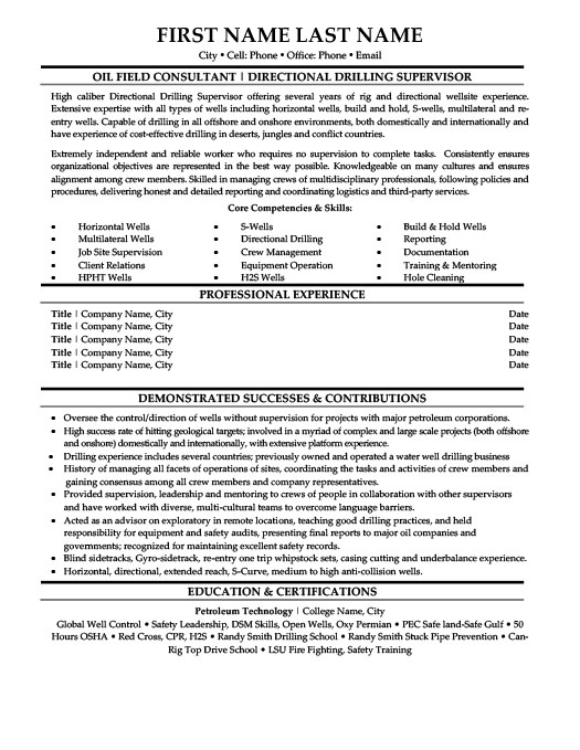 oil and gas resume templates samples examples rig template environmental science lecturer Resume Oil Rig Resume Template