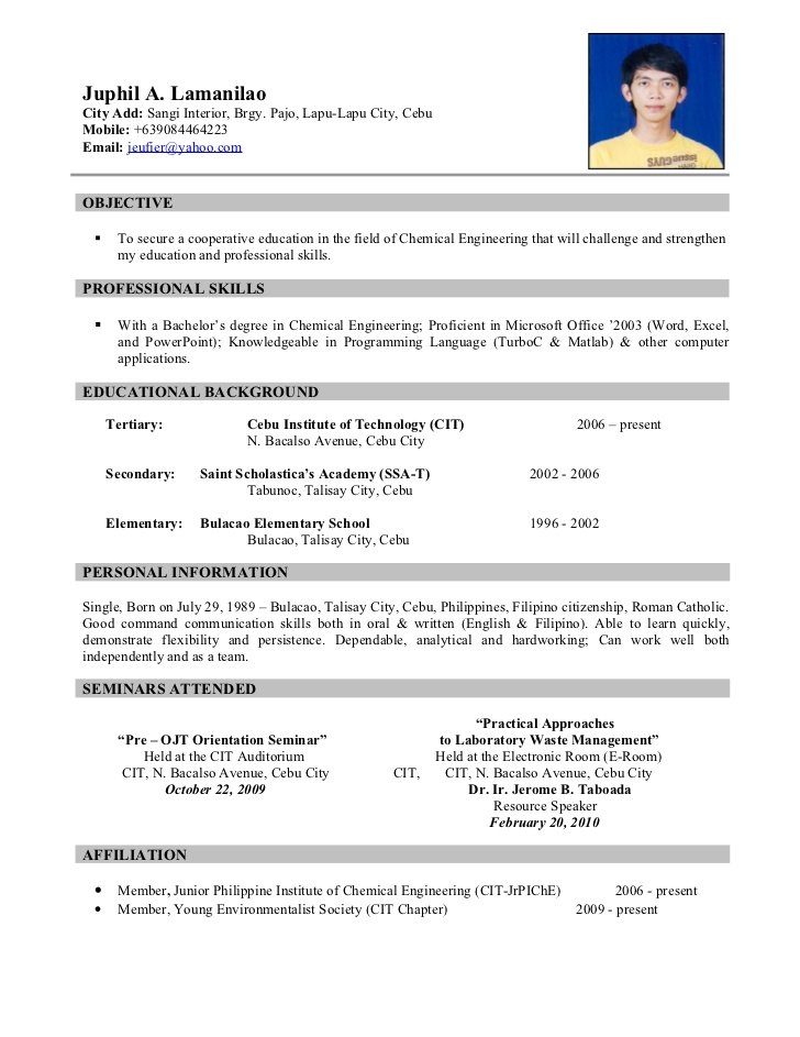 ojt resume with experience example of skills summary for property claims adjuster sample Resume Resume With Ojt Experience