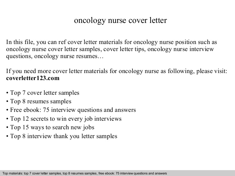 oncology nurse cover letter resume objective oncologynursecoverletter phpapp02 thumbnail Resume Oncology Nurse Resume Objective
