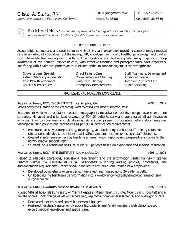 oncology nurse resume sample free templates objective of new grad rn service office Resume Oncology Nurse Resume Objective