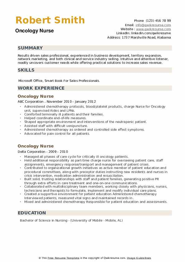 oncology nurse resume samples qwikresume objective pdf board of directors for computer Resume Oncology Nurse Resume Objective