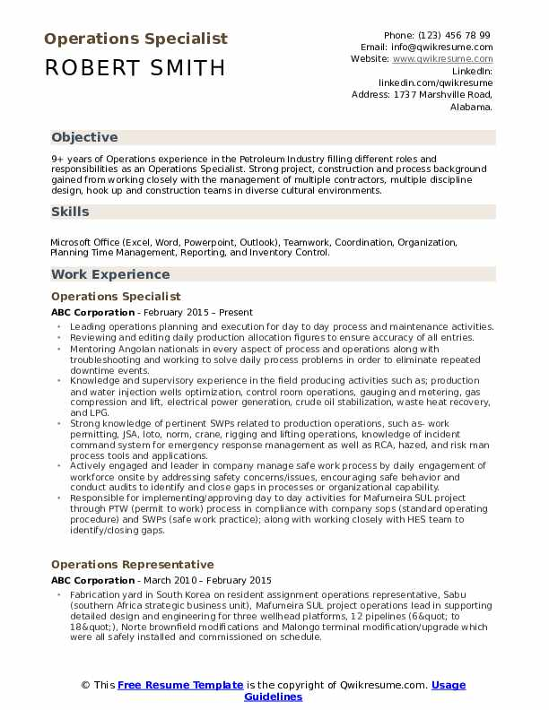 operations specialist resume samples qwikresume pdf freshman format indeed subscription Resume Operations Specialist Resume
