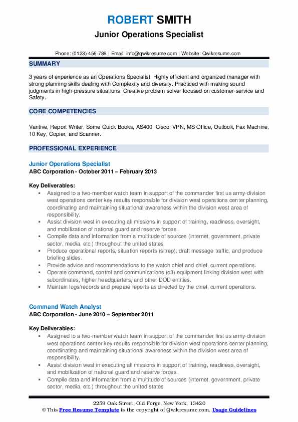 operations specialist resume samples qwikresume pdf laundry attendant example Resume Operations Specialist Resume