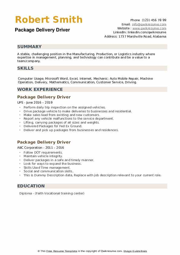 package delivery driver resume samples qwikresume fedex example pdf specialist toronto Resume Fedex Driver Resume Example