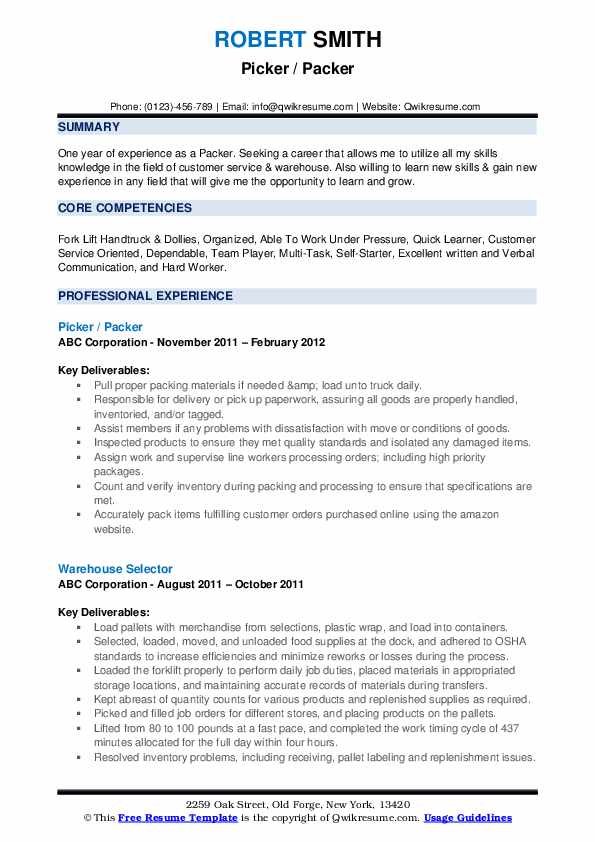 packer resume samples qwikresume picker objective pdf recruiting search master writer Resume Picker Packer Resume Objective