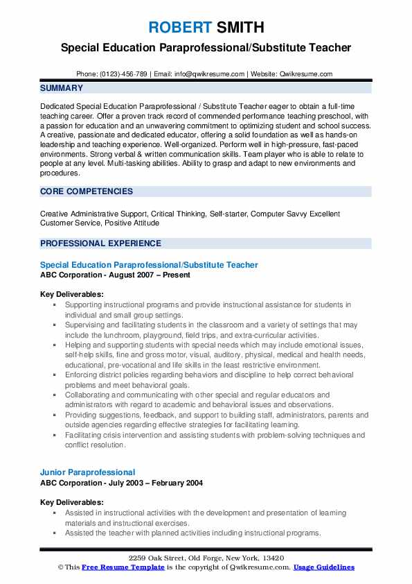 paraprofessional resume samples qwikresume pdf example of good for first job checkout Resume Paraprofessional Resume