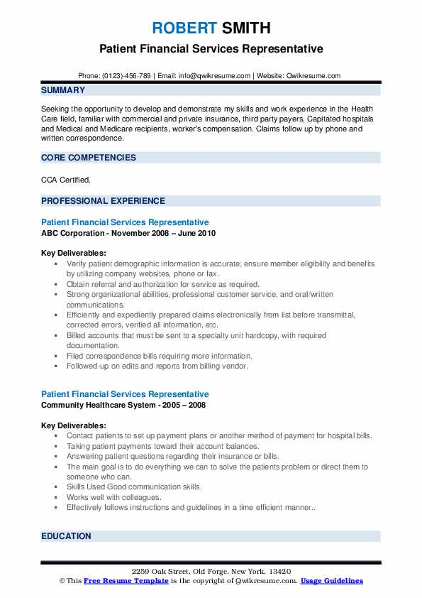 patient financial services representative resume samples qwikresume pdf college football Resume Patient Financial Services Representative Resume