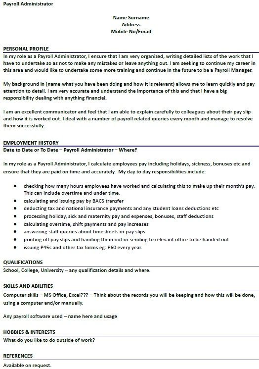 payroll administrator cv example icoveruk in professional resume examples sample Resume Payroll Coordinator Job Description Resume