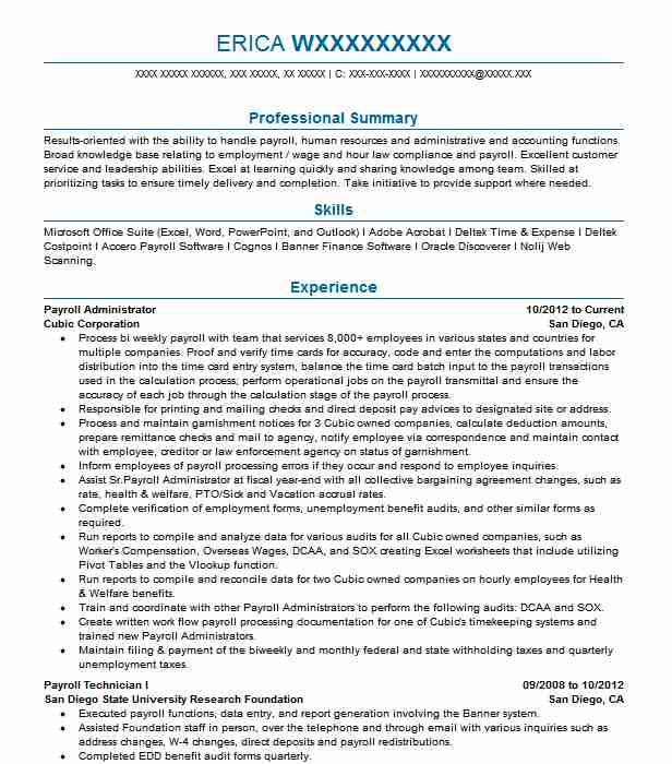 payroll administrator resume example enrichment corporation paducah coordinator job Resume Payroll Coordinator Job Description Resume