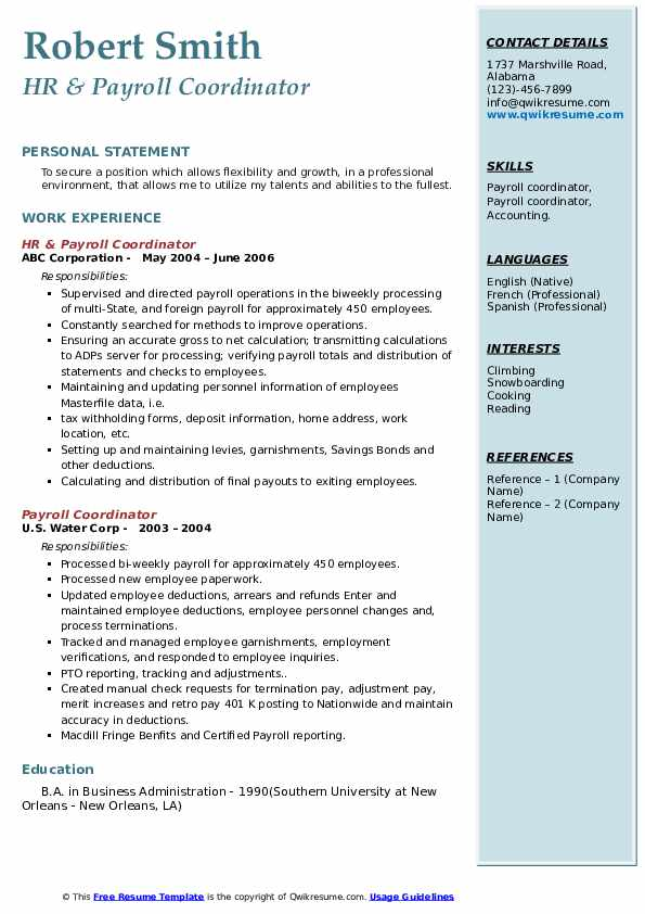 payroll coordinator resume samples qwikresume job description pdf procurement Resume Payroll Coordinator Job Description Resume