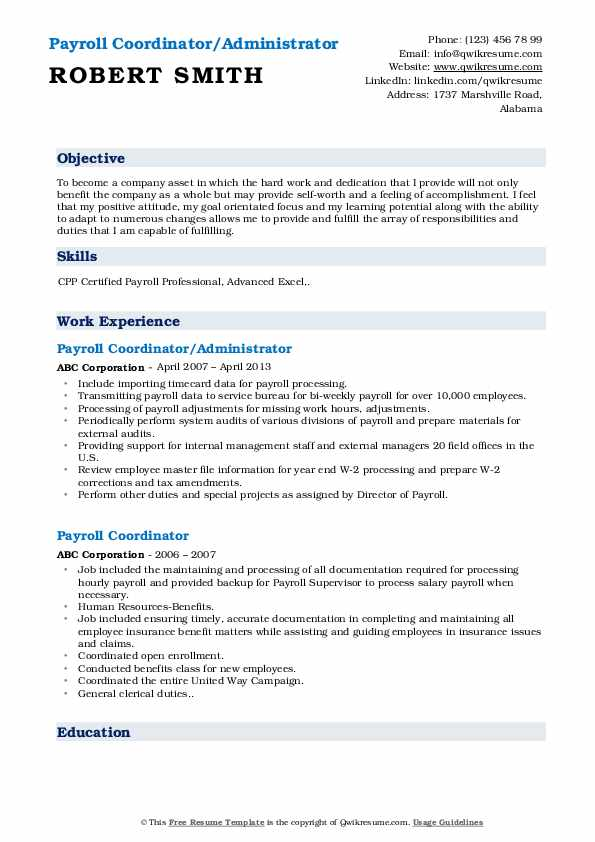 payroll coordinator resume samples qwikresume job description pdf security engineer best Resume Payroll Coordinator Job Description Resume
