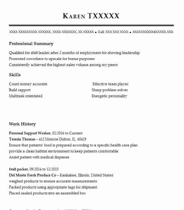 personal support worker resume example resumes misc livecareer community template format Resume Community Support Worker Resume Template