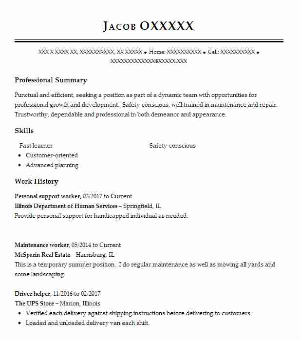 personal support worker resume example resumes misc livecareer community template Resume Community Support Worker Resume Template