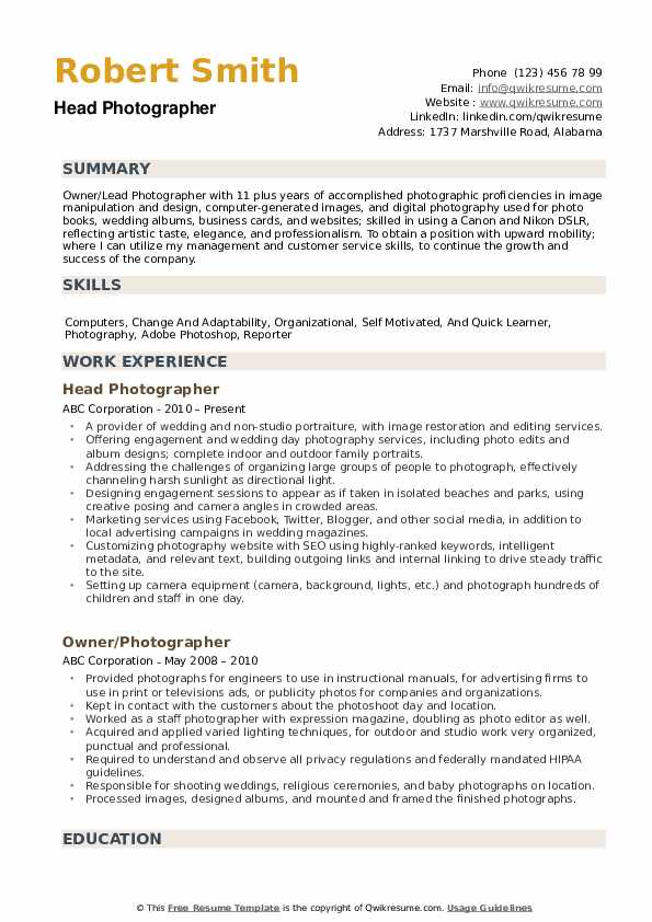 photographer resume samples qwikresume creative templates pdf special education teacher Resume Creative Photographer Resume Templates