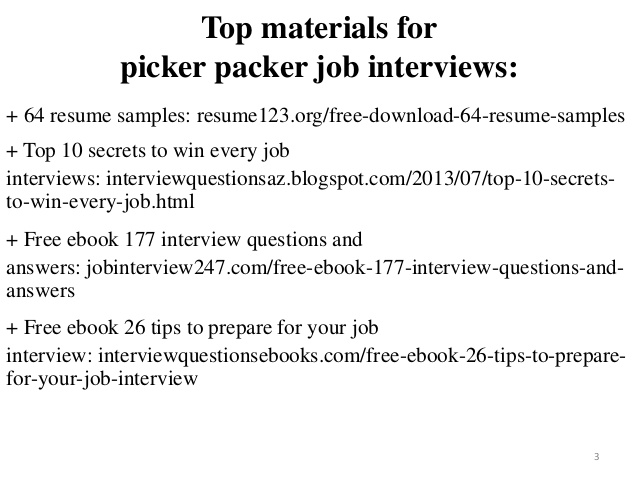 picker packer resume sample pdf ebook objective professional geologist template apartment Resume Picker Packer Resume Objective