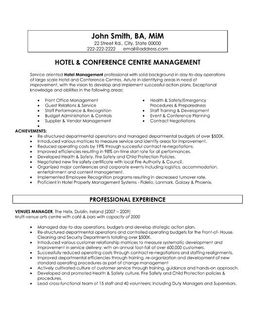 pin by jennifer kovacic on resumes cover letters resume templates letter for good Resume Hospitality Resume Examples