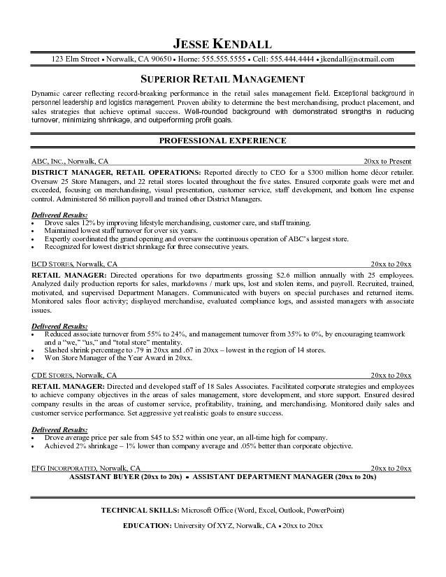 pin by santie on resume and interview help retail examples objective for manager docker Resume Resume Objective For Retail Manager
