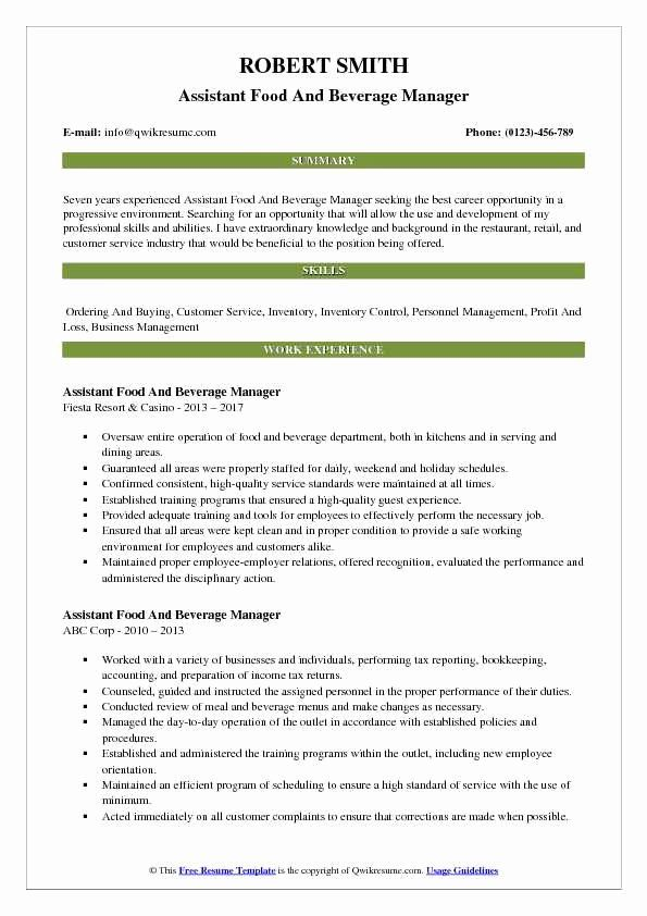 pin on job resume sample food beverage manager functional microsoft cls computer network Resume Food & Beverage Manager Resume