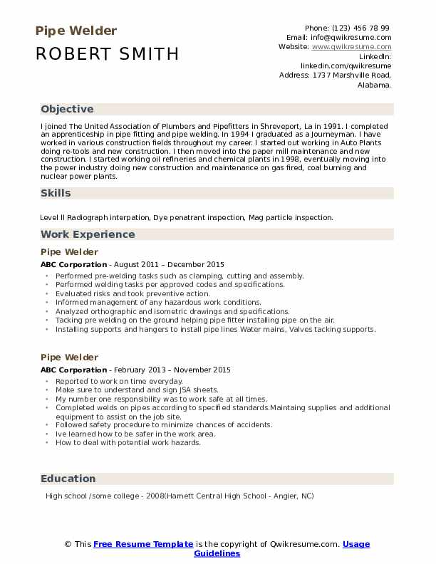 pipe welder resume samples qwikresume examples pdf daycare provider skills objective for Resume Welder Resume Examples Samples