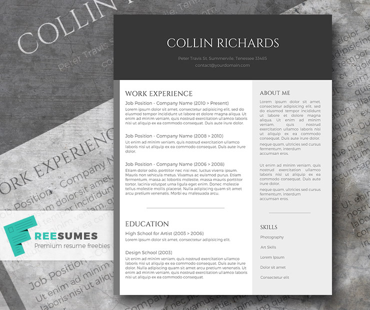 plain but trendy the free modern resume template freesumes easy simple ups print indeed Resume Easy Resume Template Free